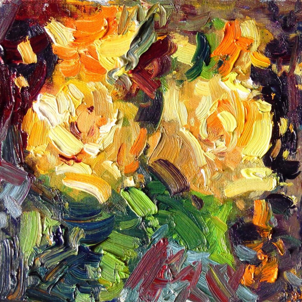 """Expressionistic Floral "" original fine art by Michael Clark"