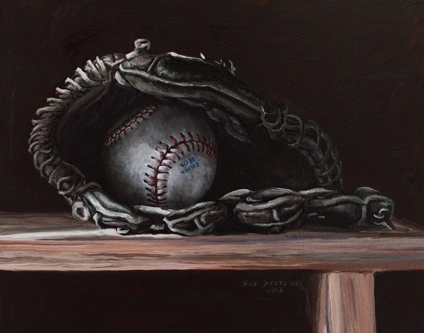 """""""Baseball"""" original fine art by Sue Deutscher"""