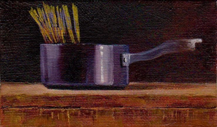 """spaghetti"" original fine art by V. DeBak"
