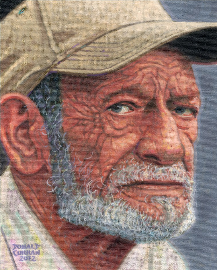 """Old Man"" original fine art by Donald Curran"