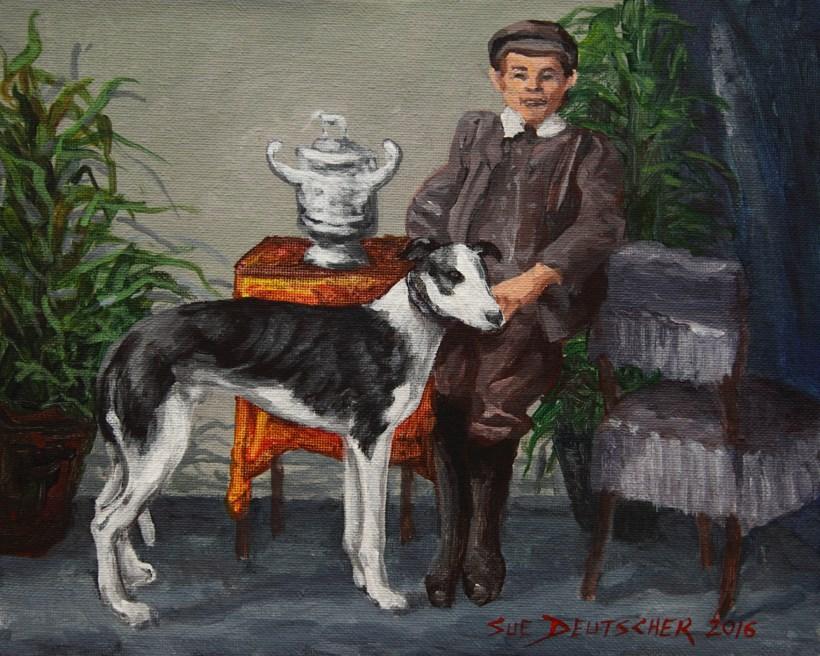 """""""The Champion"""" original fine art by Sue Deutscher"""