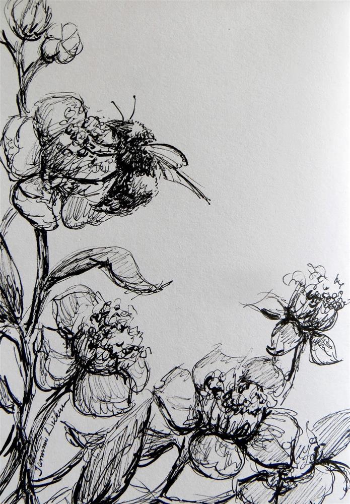 """Blooming Bee"" original fine art by Tammie Dickerson"