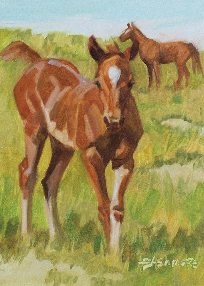 """Ruby"" original fine art by Susan Ashmore"