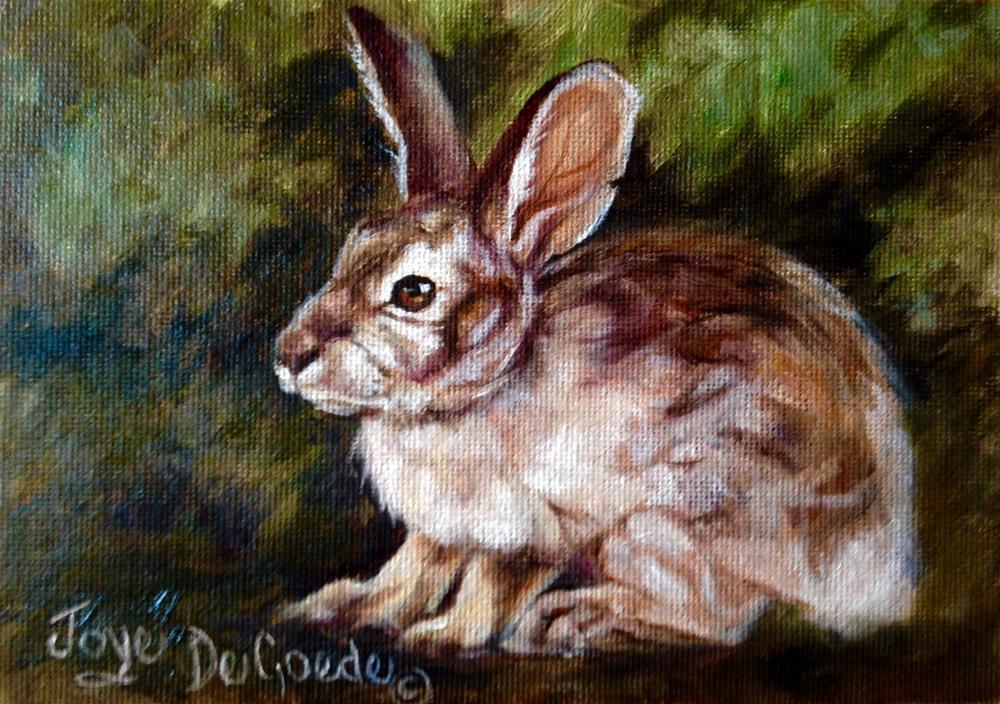 """""""A Little Bunny Tale (c) by Joye DeGoede"""" original fine art by Joye DeGoede"""