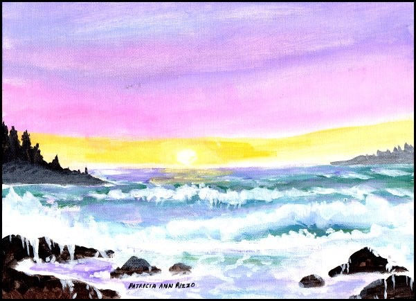 """Lavender Sea 2"" original fine art by Patricia Ann Rizzo"