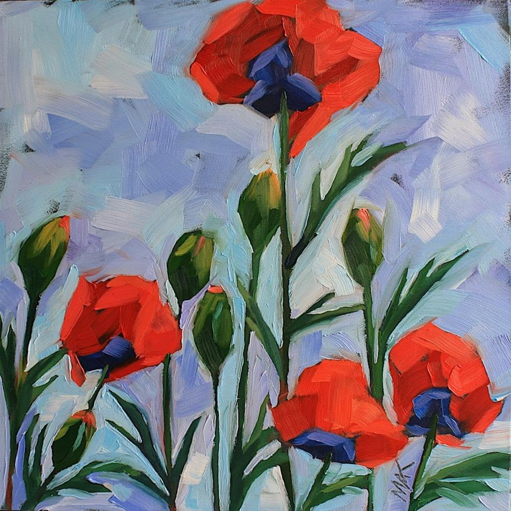 """A Little Color with your Poppies"" original fine art by Mary Anne Cary"