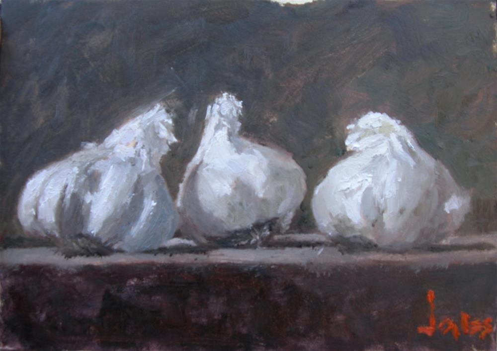 """Garlic Cloves"" original fine art by Richard Jones"