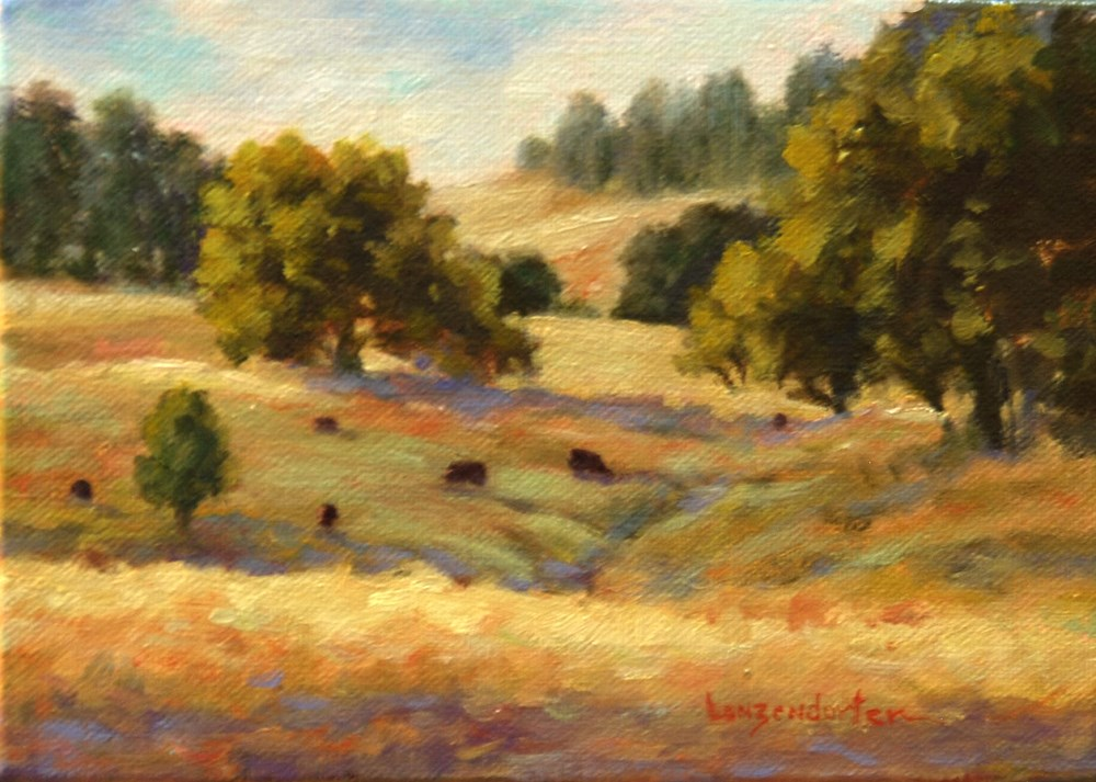 """GRASS VALLEY SUMMER"" original fine art by Dj Lanzendorfer"