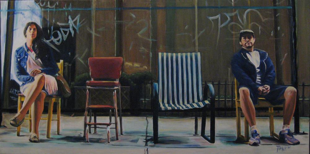 """Chairs"" original fine art by Dana Lombardo"