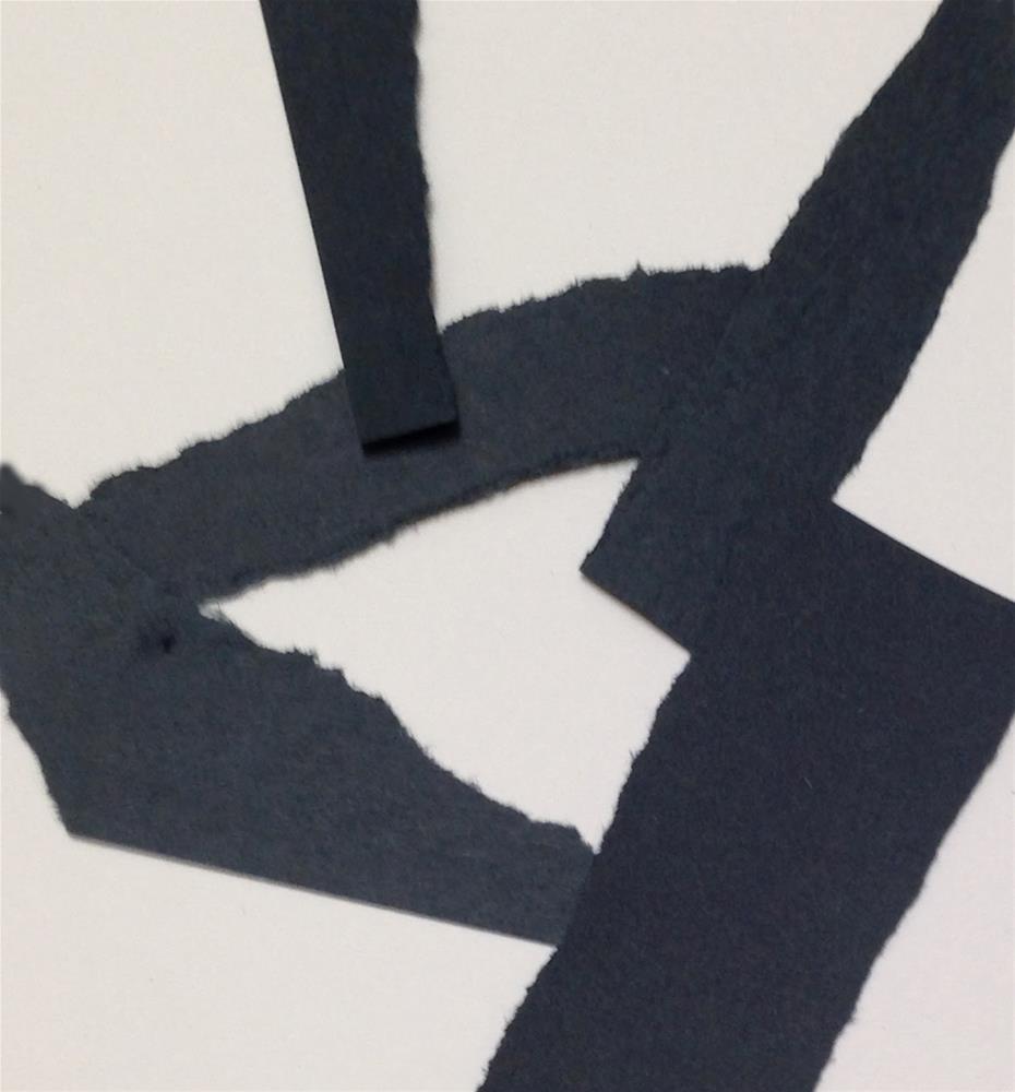 """Abstract Notan 1"" original fine art by Bobbi Heath"