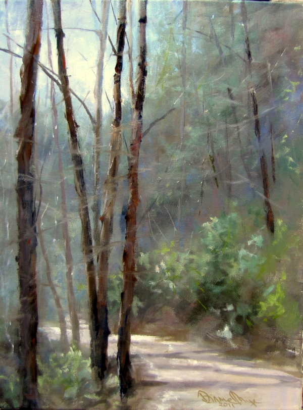"""Winter Morning on Tallulah Road"" original fine art by Dianne Mize"