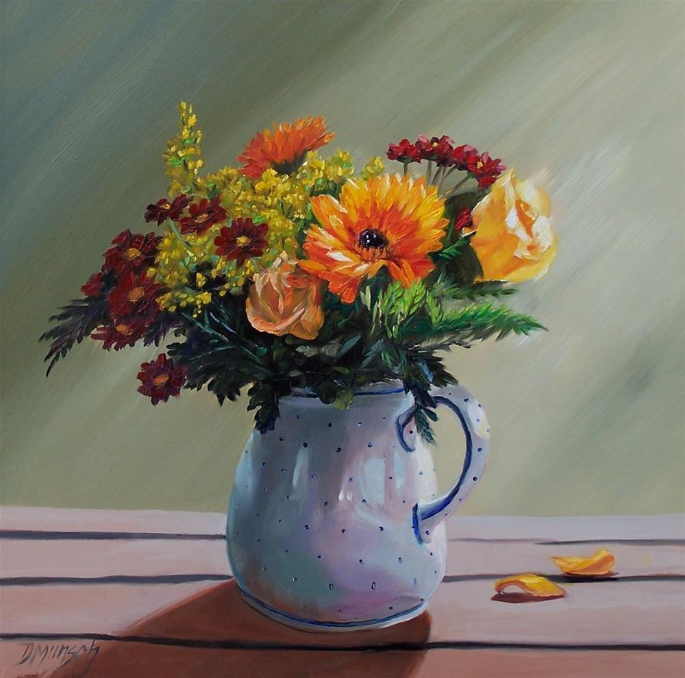 """Pitcher of Flowers"" original fine art by Donna Munsch"