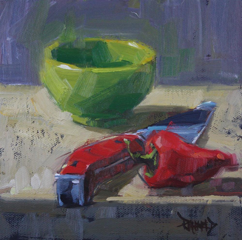 """Chop Chop"" original fine art by Cathleen Rehfeld"