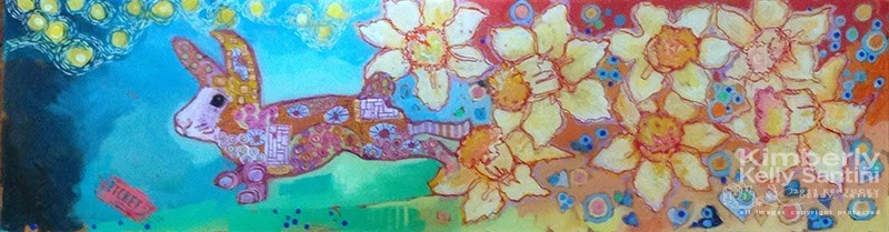 """Spring, in Process"" original fine art by Kimberly Santini"