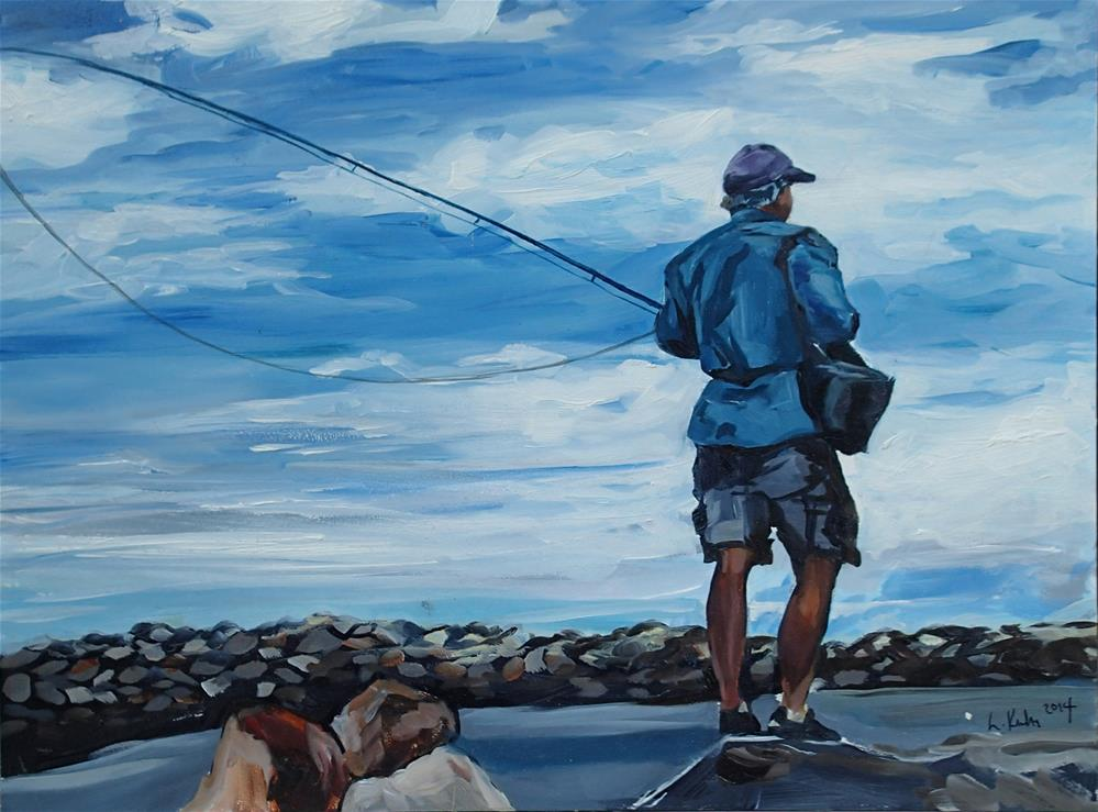 """The Fisherman"" original fine art by Lauren Kuhn"