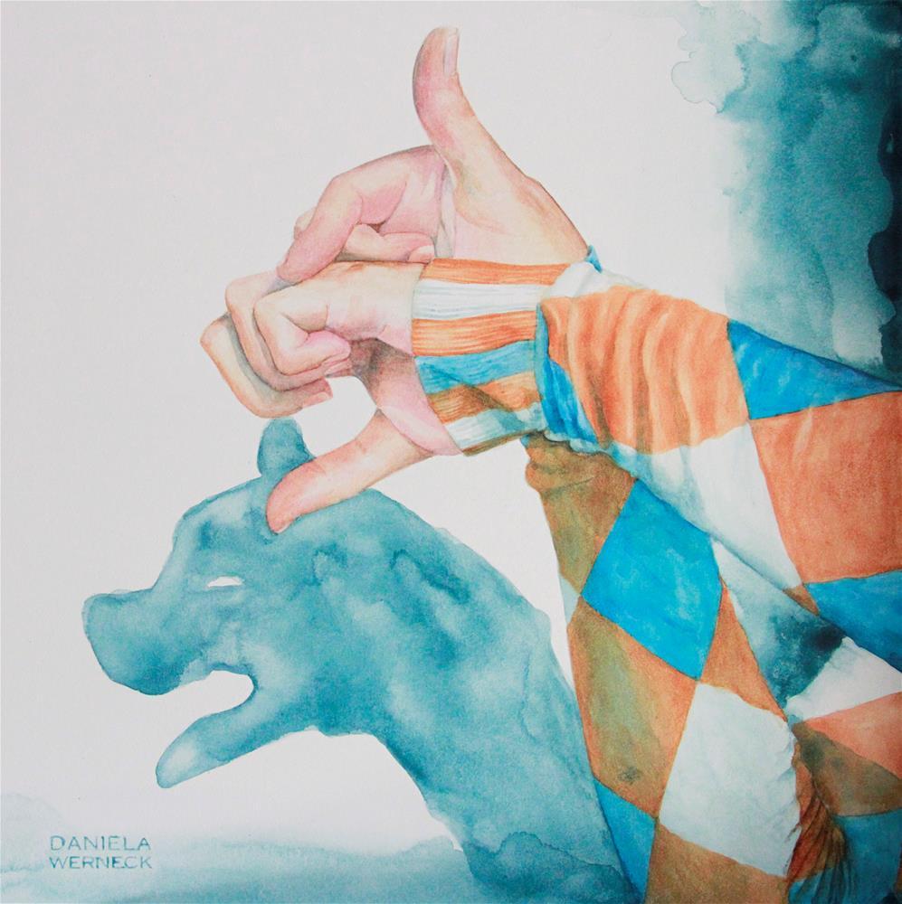 """""""The Shadow of A Dog"""" original fine art by Daniela Werneck"""