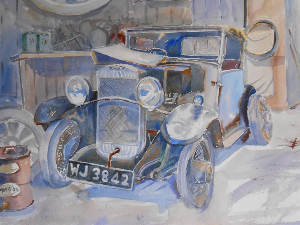 """In for repairs"" original fine art by Graham Findlay"