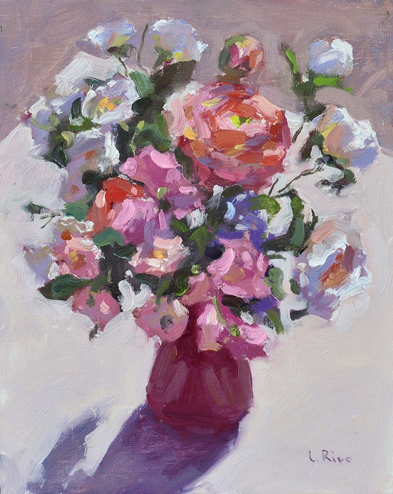 """""""Flowers in Sunlight"""" original fine art by Lena  Rivo"""