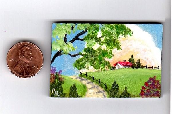 """""""Miniature Landscape"""" original fine art by Patricia Ann Rizzo"""