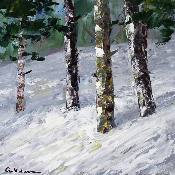 """""""Snowy Trees"""" original fine art by Anna Vreman"""