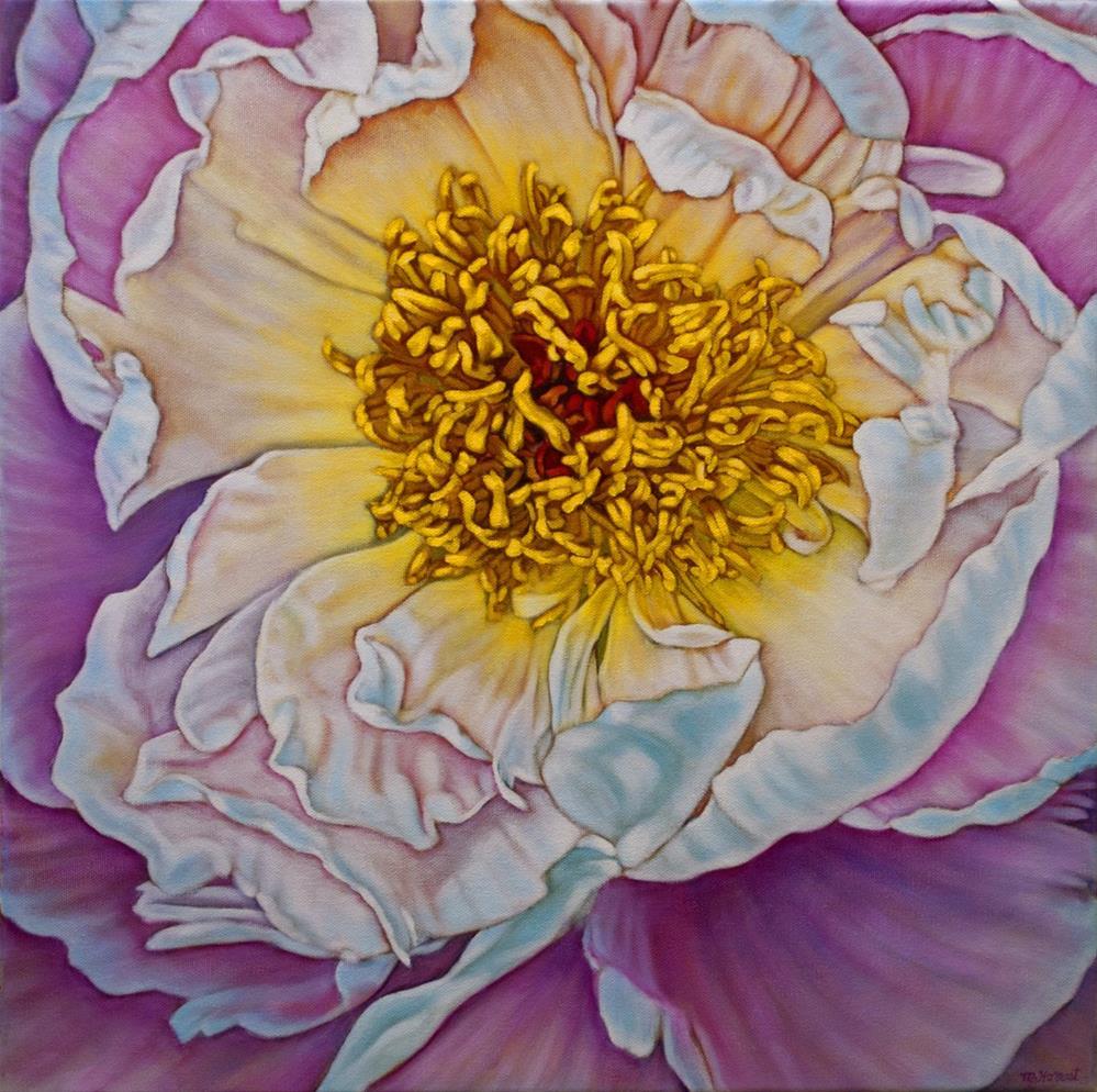 """Peony Glow"" original fine art by Margaret Horvat"