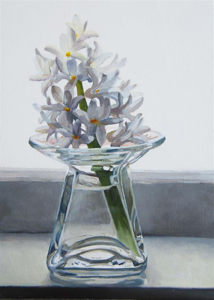 """Hyacinth"" original fine art by Pam Greene"