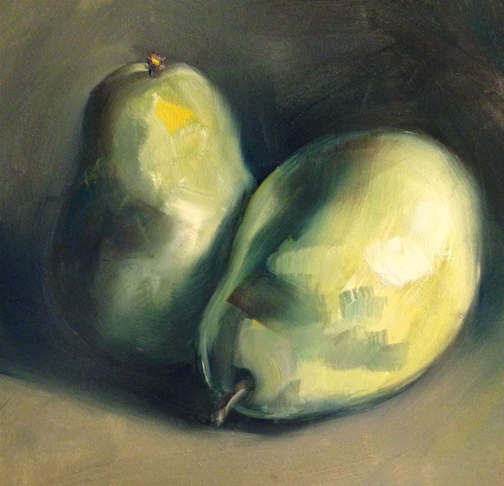 """Pears I"" original fine art by Beth Moreau"