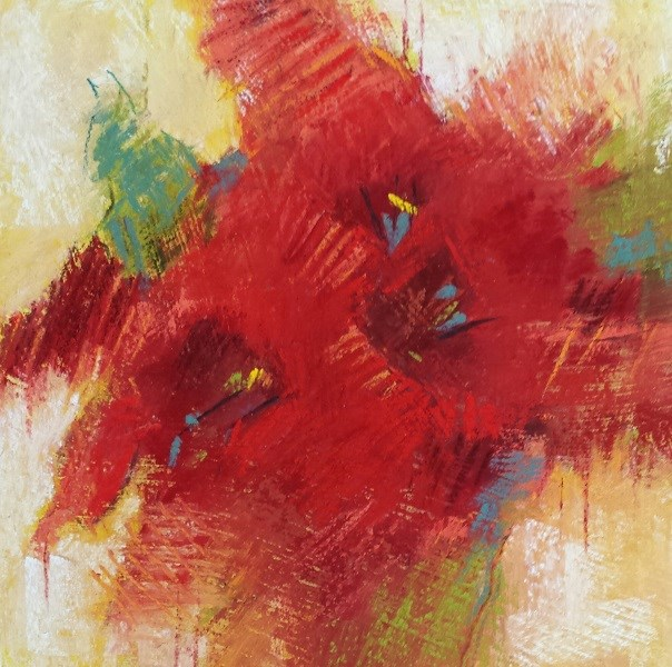 """Red 19"" original fine art by Cindy Haase"