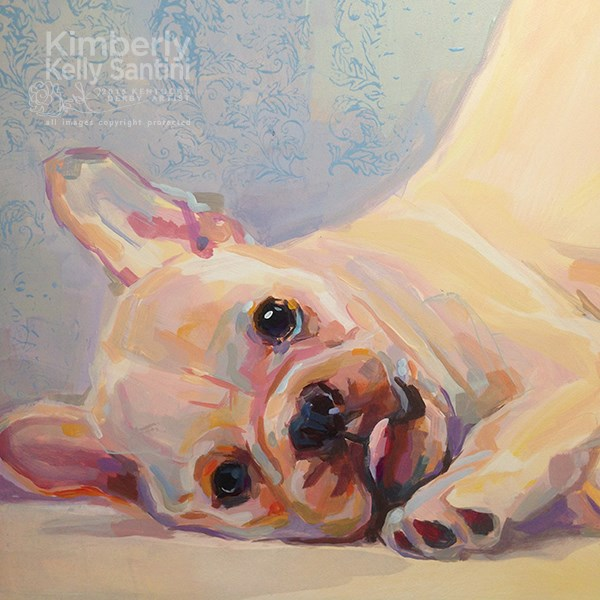 """Poppy, In Process"" original fine art by Kimberly Santini"