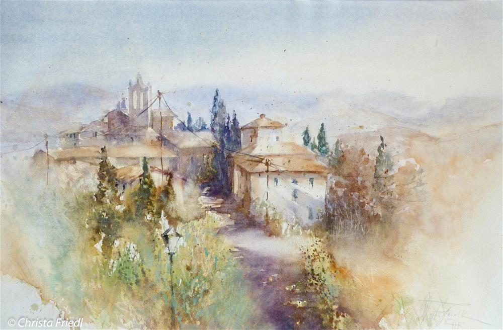 """San Leolino, Tuscany, Italy"" original fine art by Christa Friedl"