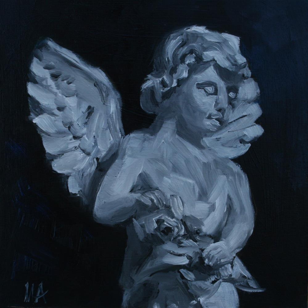 """The Littlest Angel"" original fine art by Aniko Makay"