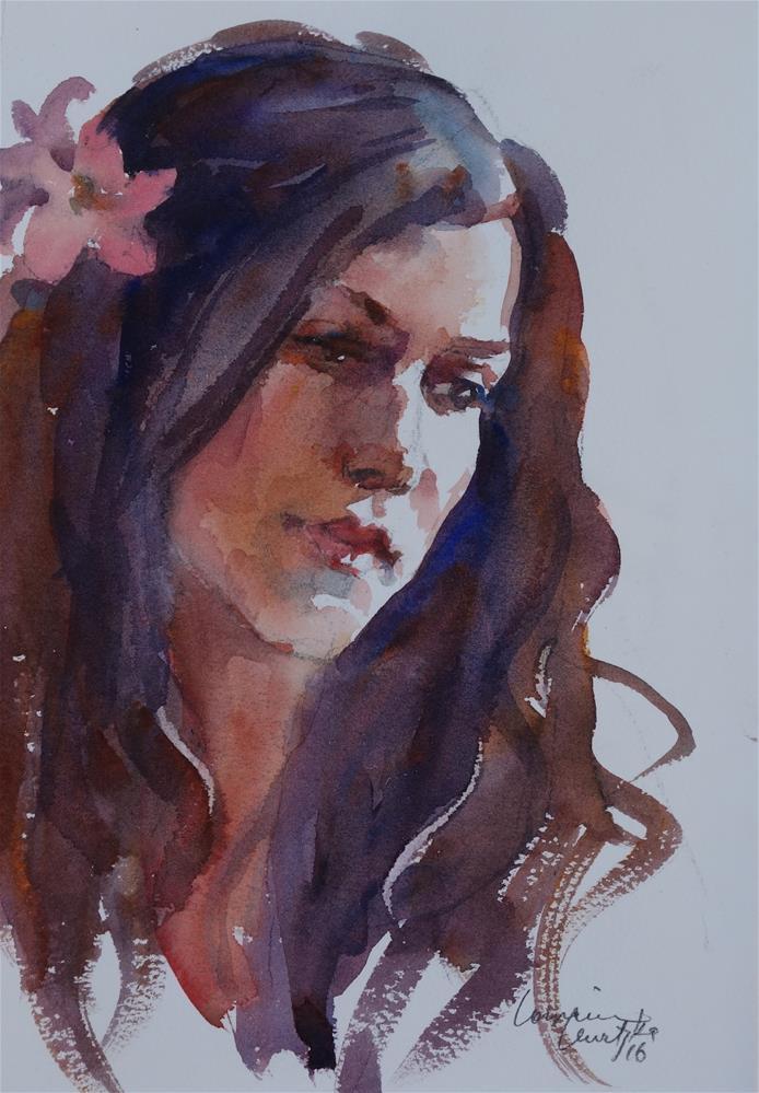 """""""Flower"""" original fine art by Lorraine Lewitzka"""