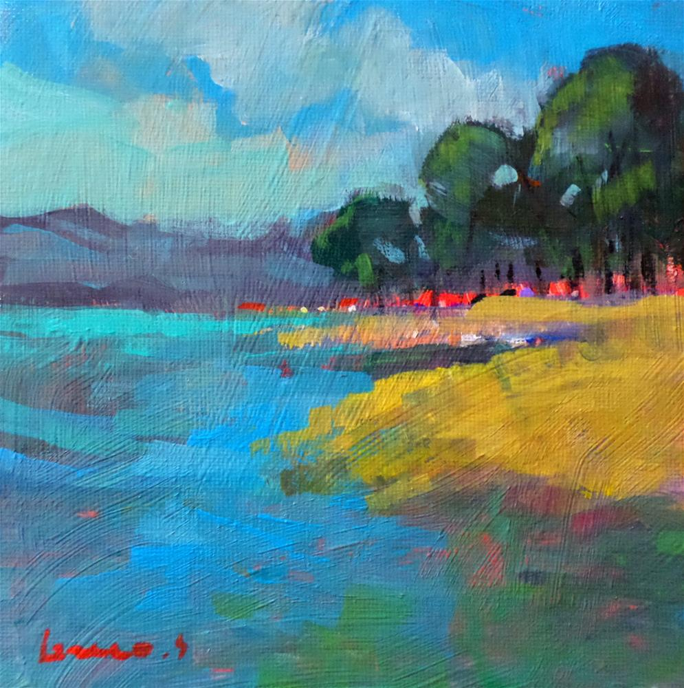 """My lake"" original fine art by salvatore greco"