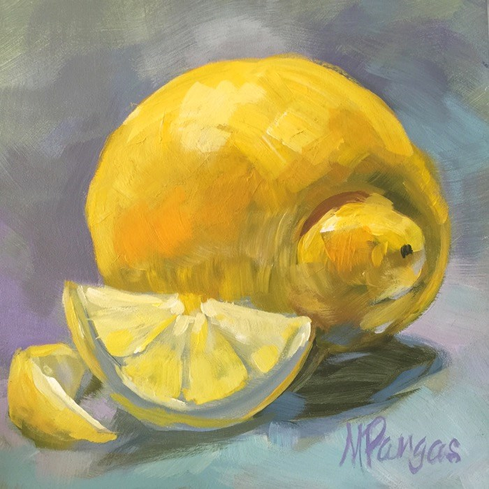 """Snubnosed Lemon with Smile"" original fine art by Mary Pargas"
