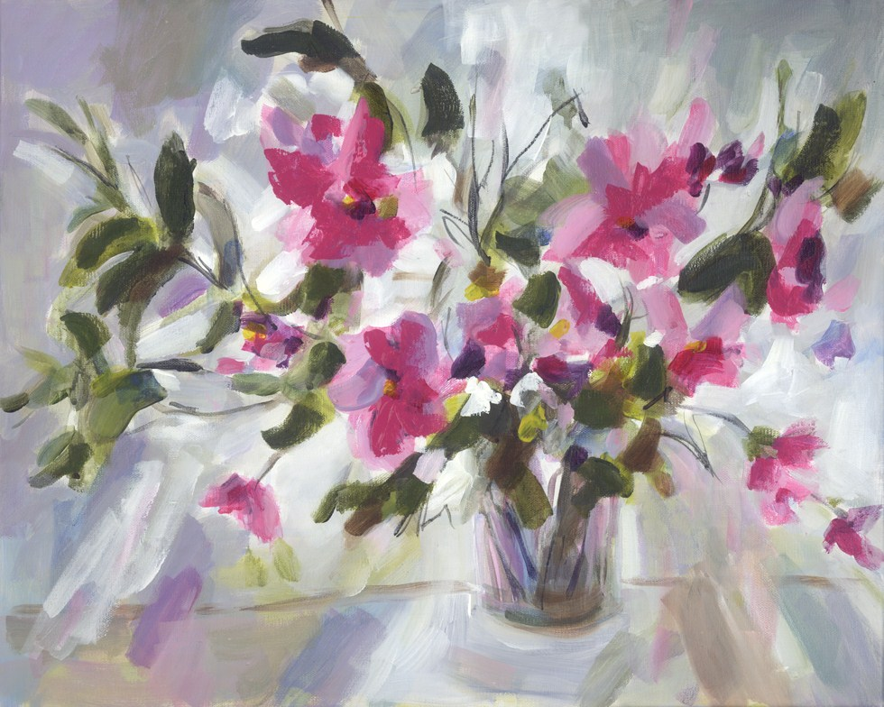 """Magenta Melody"" original fine art by Pamela Gatens"