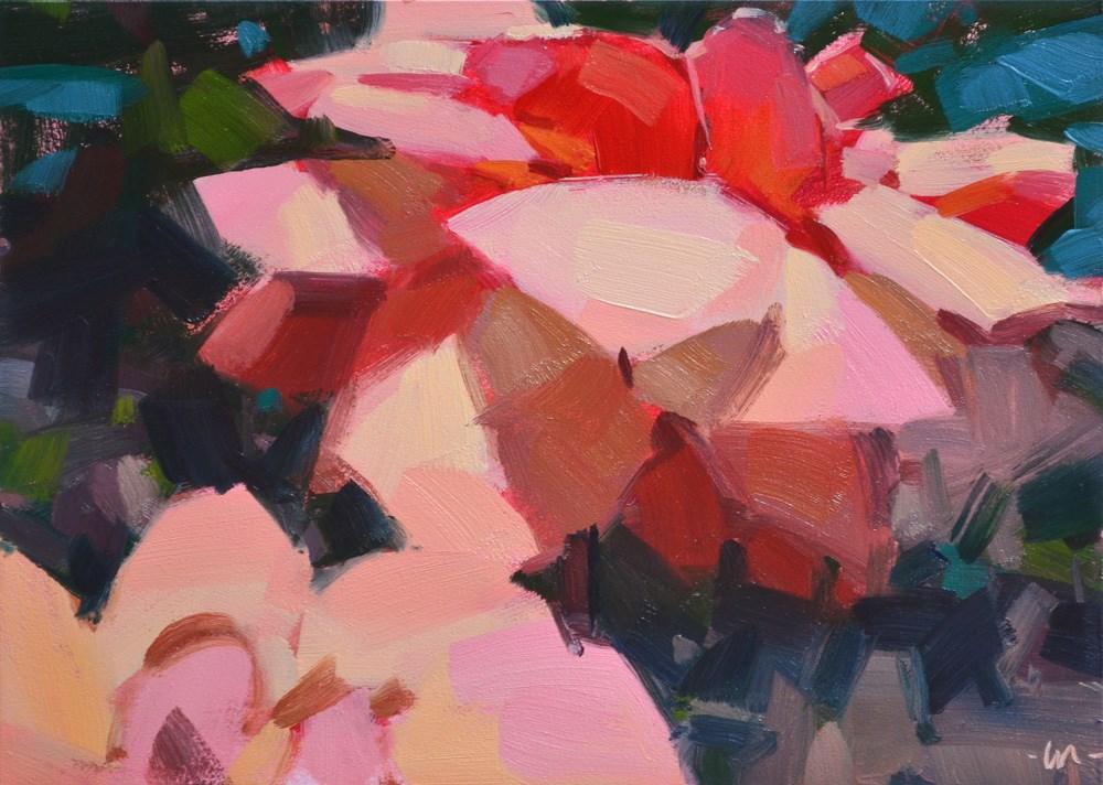 """Happy Flowers"" original fine art by Carol Marine"
