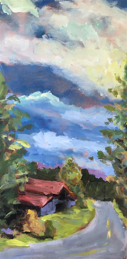 """Barn on Carter's Creek Pike Class Demo"" original fine art by Susan Elizabeth Jones"
