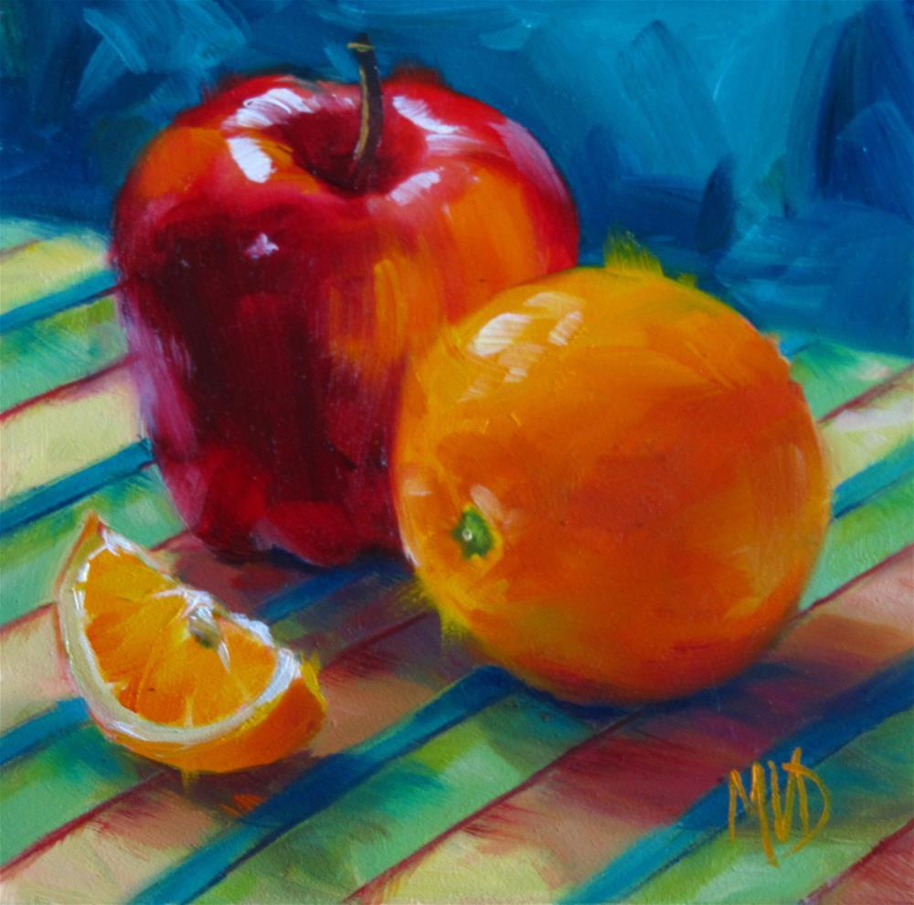 """""""Apples 'n Oranges"""" original fine art by Mary Van Deman"""