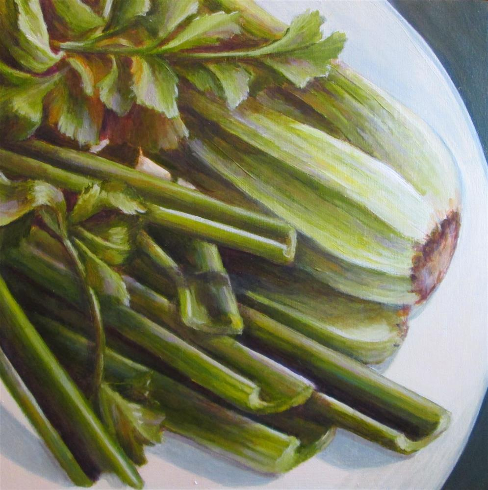 """Celery"" original fine art by Debbie Shirley"