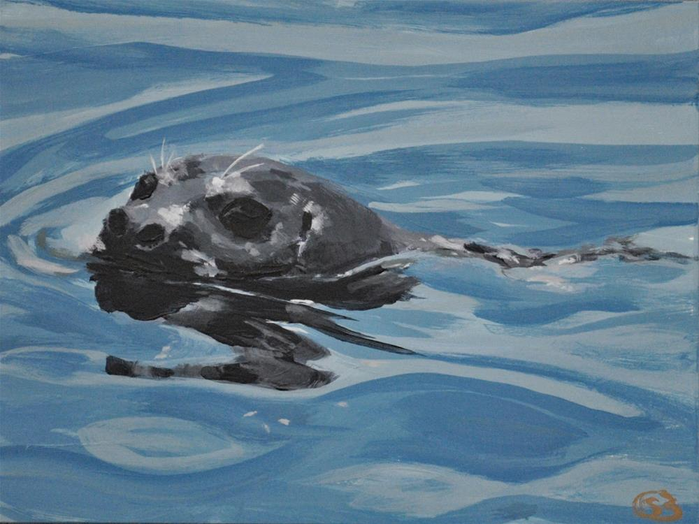 """Curious Seal"" original fine art by Shari Buelt"