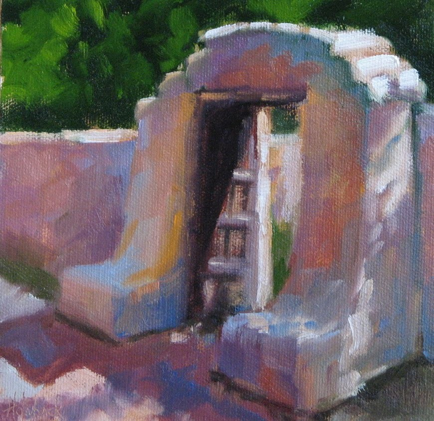 """La Foret Chapel Gate"" original fine art by Pam Holnback"