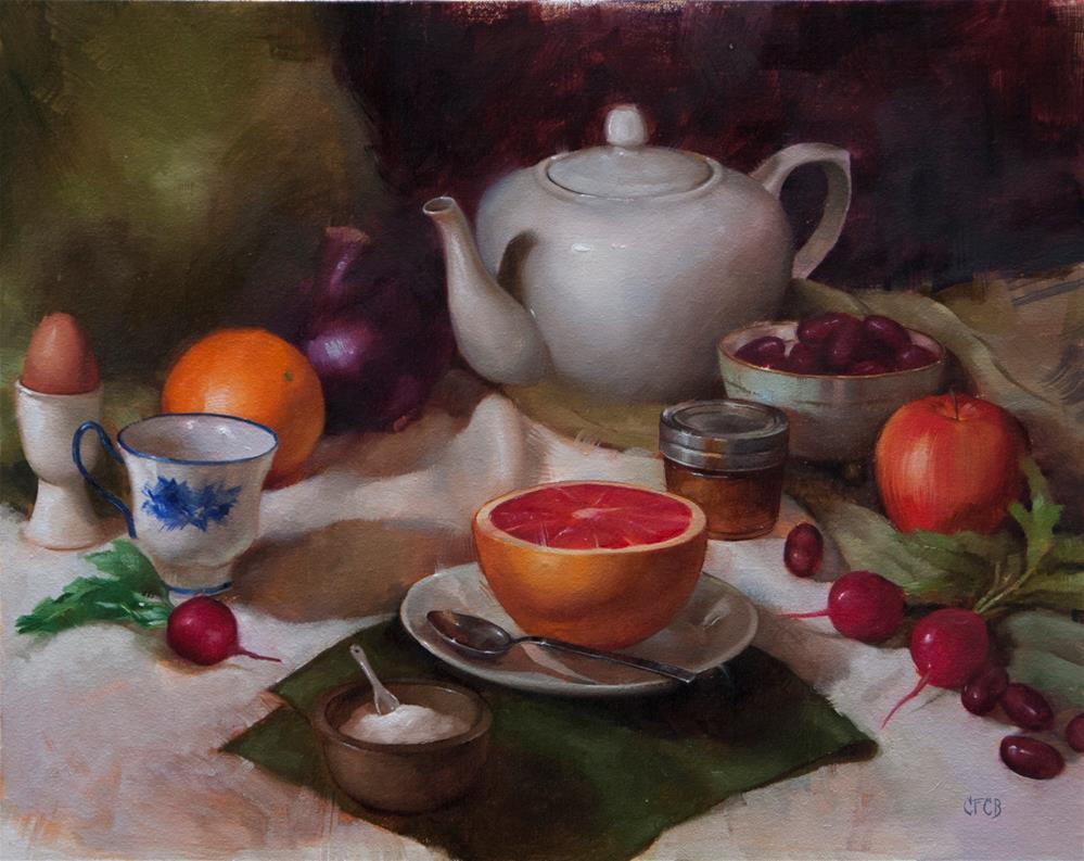 """Breakfast Table"" original fine art by Catherine Bobkoski"