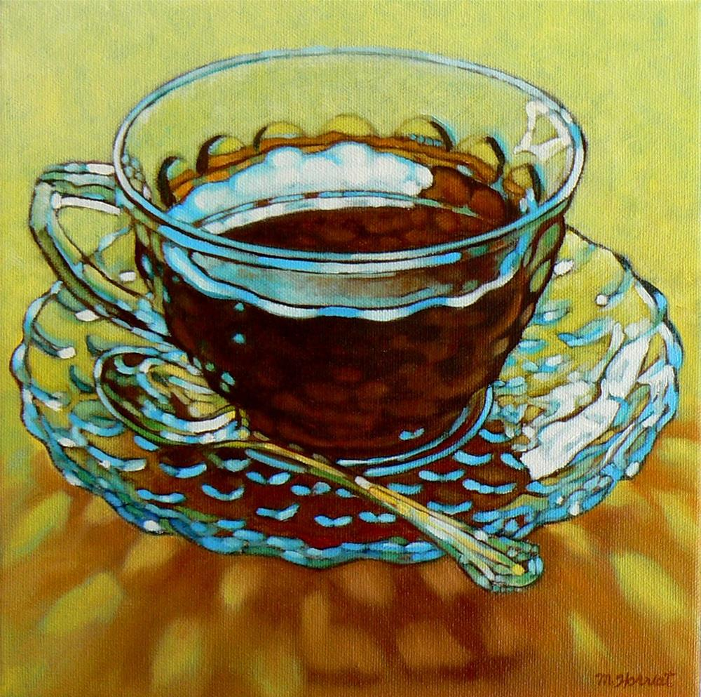 """""""Clouds In My Coffee"""" original fine art by Margaret Horvat"""