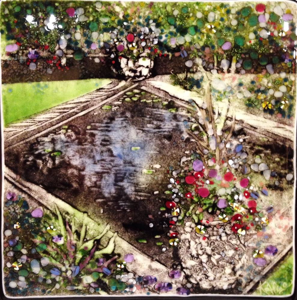 """Glassy Reflections, Schedel Gardens"" original fine art by Kelly Alge"