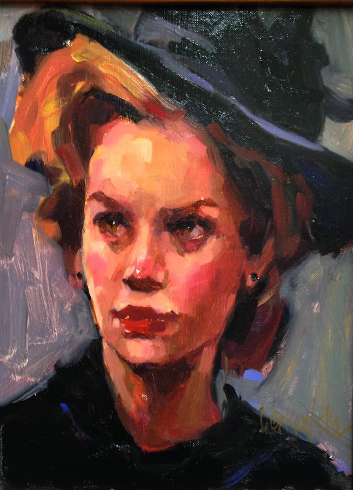 """Captivated"" original fine art by Laurie Johnson Lepkowska"
