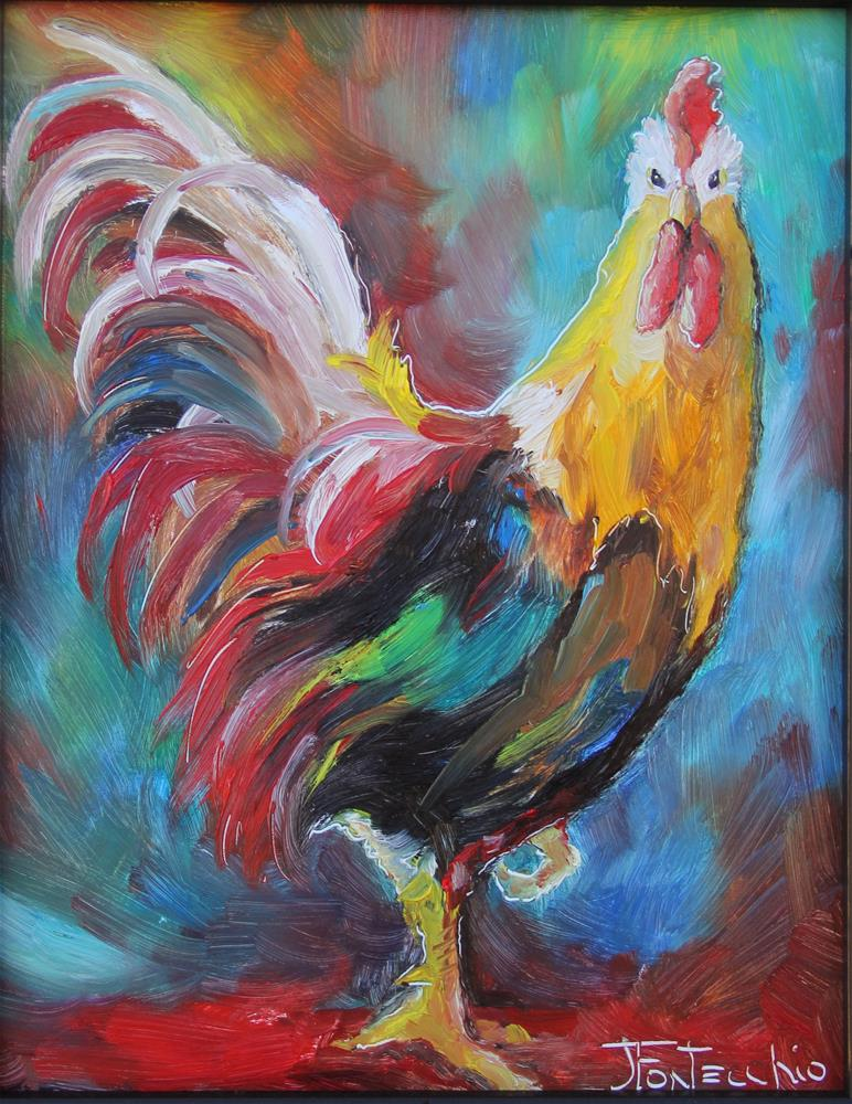 """Roostertude"" original fine art by Jan Fontecchio"