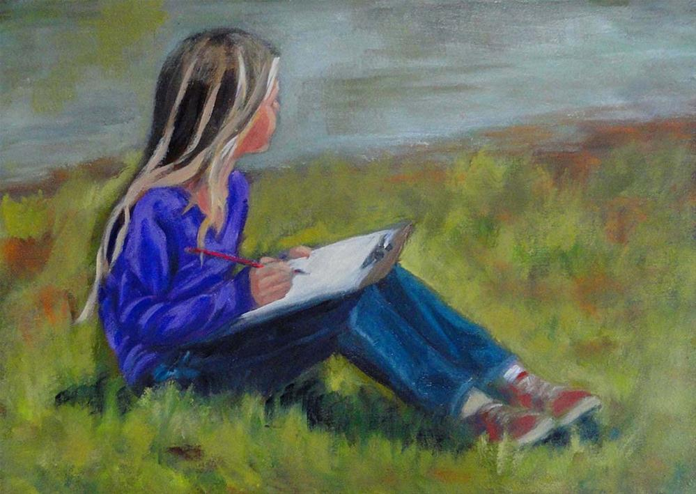 """Daydreaming"" original fine art by Cietha Wilson"