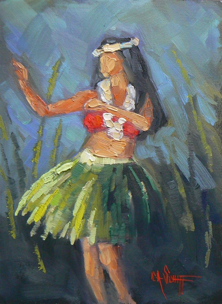 """Daily Painting, Figurative, Hula Mama 6x8"" original fine art by Carol Schiff"