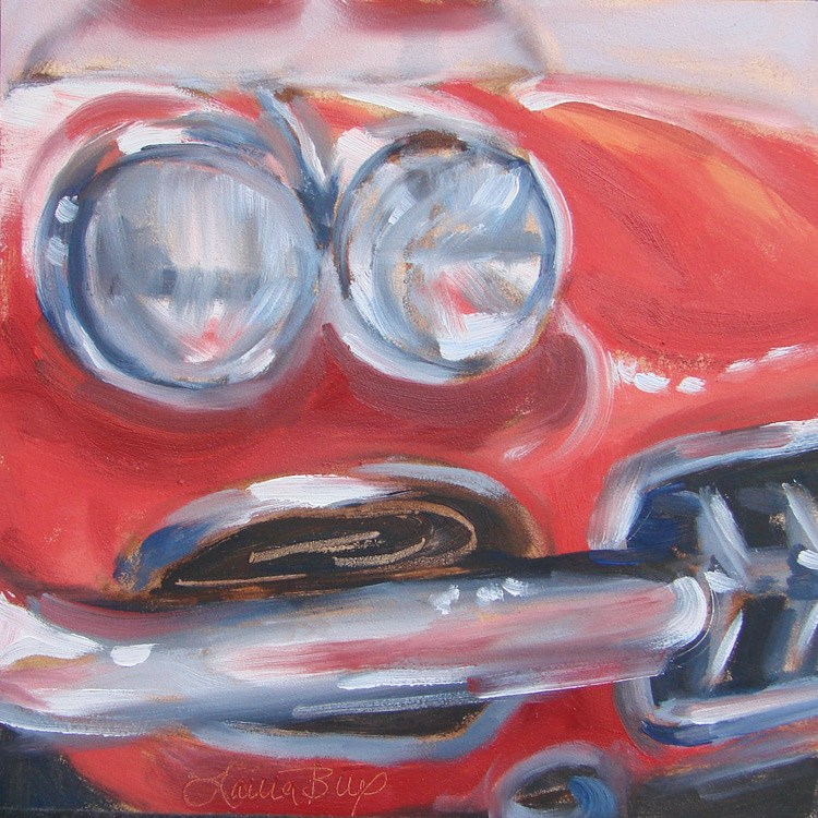 """Corvette - 407"" original fine art by Laura  Buxo"