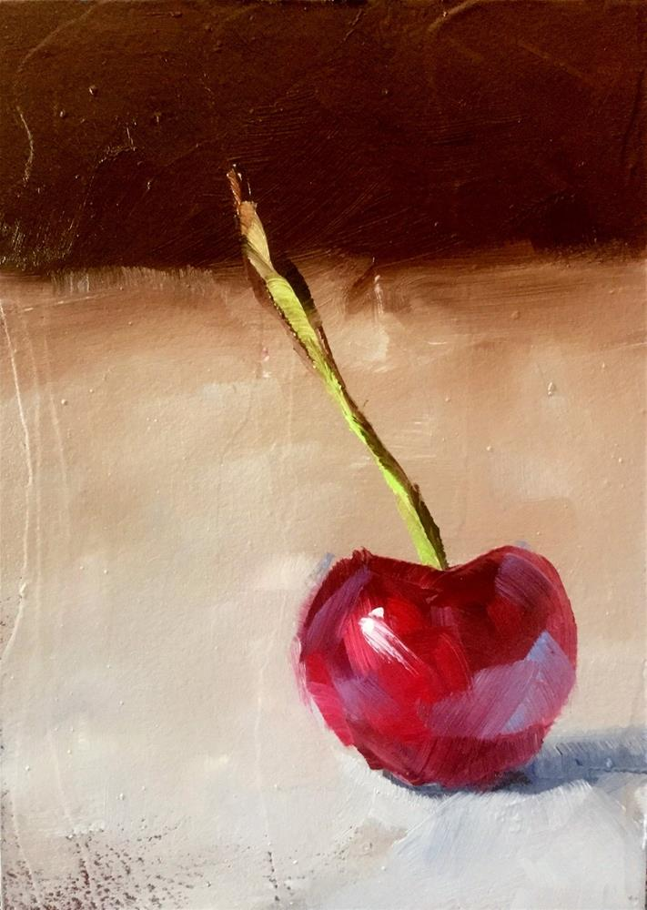 """Single Cherry"" original fine art by Gary Bruton"